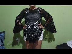 Tunica Yara parte 1 - YouTube Gilet Crochet, Crochet Tunic, Diy Crochet, Crochet Tops, Thalia, Crochet Woman, Summer Patterns, Knitting, Yarn Crafts