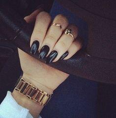 Black gloss nails nail nail art black nails nail ideas nail designs glossy nails