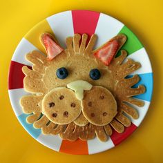 lion pancake. Inspired by Cassie's amazing pancake artwork!
