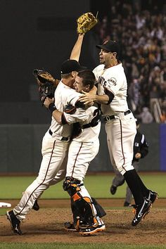 Cain, Posey, and Belt    WHAT A FREAKING GAME