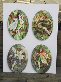 Set of 4 Celtic Tree Fairies Wall Hangings by MickieMuellerStudio, $36.00