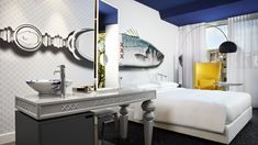 IVANKA customized indoor elements for Andaz Amsterdam.