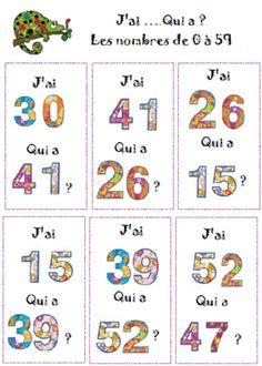 jeux rituels CP nombres de 0 à 20 nombres de 0 à 69 nombres de 0 à 100