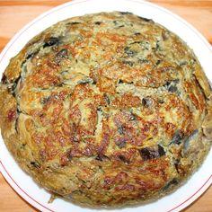 tortilla de cebolla, cerveza y berenjena #receta #recipe www.birrabox.com Sweet And Salty, Frittata, Crepes, Risotto, Eggs, Keto, Dinner, Breakfast, Ethnic Recipes