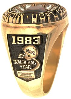 The Michigan Panthers 1983 USFL Championship Ring. This was the USFL's inaugural season.