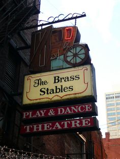 Nashville, TN The Brass Stables... We have to get a pic under this sign... with my last name being Brass and all! Haha