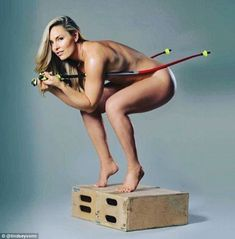 'I'm finally confident with my body': Lindsey Vonn, 31, bravely stripped off in a sizzling Instagram snap as she continued the promotional trail for her new book Strong Is The New Beautiful