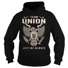 Team UNION Lifetime Member T Shirts, Hoodies, Sweatshirts. GET ONE ==> https://www.sunfrog.com/Names/Team-UNION-Lifetime-Member--Last-Name-Surname-T-Shirt-Black-Hoodie.html?41382