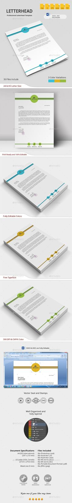 Professional Letterhead - Stationery Print Templates Letterhead - professional letterhead
