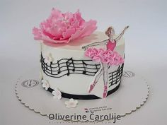 Ballerina Cake by Oliverine Čarolije Happy Birthday Cakes, Birthday Cake Girls, Birthday Cupcakes, Birthday Ideas, Ballerina Cakes, Ballerina Birthday, Unicorn Birthday, Music Themed Cakes, Music Cakes
