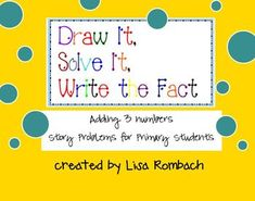 FREE smart board lesson.  Story problems for adding 3 numbers. (.notebook file)