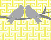 Two yellow birds....yellow and gray