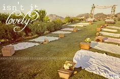 picnic wedding!  Totally love this idea... maybe for a vow renewal some day :)