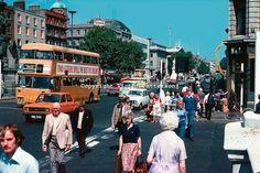 Classic Dublin in vivid colour Dublin Street, London Street, Dublin Ireland, Ireland Travel, Old Pictures, Old Photos, Images Of Ireland, Photo Engraving, Ireland Homes