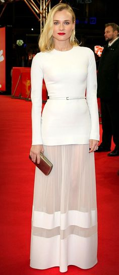 white Diane Kruger wearing a white Elie Saab gown to The Better Angels premiere in Berlin, Germany V Diane Kruger, Celebrity Red Carpet, Celebrity Look, White Fashion, Star Fashion, Tokyo Fashion, Robes Elie Saab, Looks Kim Kardashian, Beautiful Dresses