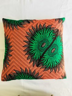 Vintage pink and green Ankara scatter cushion! #scattercushions #homedecor #beinspired