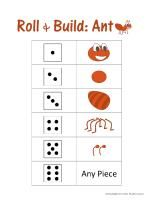 Ants roll and draw Kindergarten Library Lessons, Kindergarten Activities, Math Crafts, Alphabet Crafts, Teaching Themes, Preschool Themes, Bugs, Mini Beasts, Classroom Fun