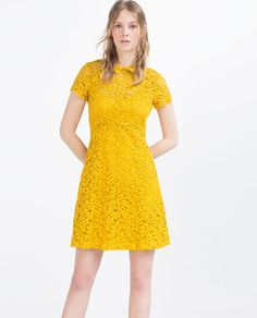 Image 1 of LACE DRESS WITH FLOUNCE SKIRT from Zara