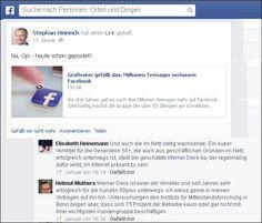"""""""Na Opi, heute schon gepostet?"""" fragte Stephan Heinrich auf Facebook…"""" Dabei entdeckte ich zwei wertschätzende Kommentare über mich, zum Thema ALTE und Social Media"""