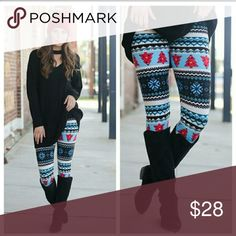 """🔜HOLIDAY/WINTER PRINT LEGGINGS HOLIDAY/WINTER PRINT LEGGINGS.      OSFM FROM 2-12 COMFORTABLY.           92% POLYESTER. 8% SPANDEX.               🛍 """"LIKE"""" POST FOR NOTIFICATIONS ON PRICE DROPS WHEN I REOPEN MY CLOSET, WILL ALSO POST EXTRA PICTURES🛍 Infinity Raine Pants Leggings"""