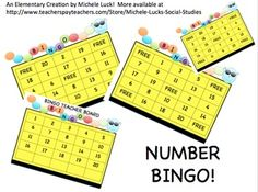 $3 This is a set of 25 different BINGO Game Cards for practicing the identification of their NUMBERS. Kids will love playing the familiar game while t...