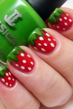 So cute,watermelon nails!!!!