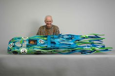 Dennis Hoyt - Automotive sculpture from wood.