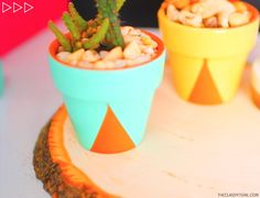Room Decor!  - DIY geometric succulent pots  #diy #diyroomdecor