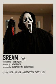 Poster polaroid do filme Scream em português. (coloquei o nome em inglês porque achei melhorzinho) Iconic Movie Posters, Minimal Movie Posters, Iconic Movies, Mini Poster, Poster Minimalista, Movie Collage, Scream Movie, Film Poster Design, Movies And Series