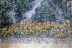 Les Rosiers, (The Rosier) Blanche Hoschedé-Monet.                                            Impressionism.                                                   Musée des Louviers , Paris-France