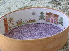 beautifully worked shaker sewing box