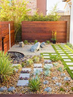 48 Creative Backyard Rock Garden Ideas to Try Modern garden design Small Backyard Gardens, Modern Backyard, Backyard Garden Design, Small Backyard Landscaping, Landscaping With Rocks, Modern Landscaping, Small Gardens, Landscaping Ideas, Backyard Ideas