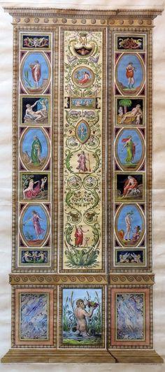 Raphael Pilaster 14). Raphael Sanzio d'Urbino (1483-1520) (after) Ludovico Teseo (intermediate draftsman) Giovanni Volpato (1740-1803) (engraver) Frescoed Pilasters from Loggia di Rafaele nel Vaticano [Loggia of Raphael in the Vatican] _BM