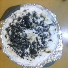 Oreo ice cream cake i made today for my son's birthday and it was a big hit