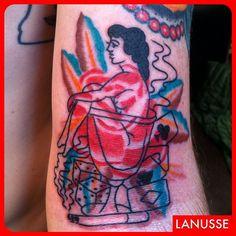 Rose/mans ruin. #20overlaid14 #tattoos #traditional #realtattoos #bright_and_bold #besttradtattoos #classictattoos #happyhour #blacklisttattoo  (at blacklist tattoo)