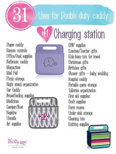 31 uses for thirty one www.mythirtyone.com/apeterson86                                                                                                                                                     More