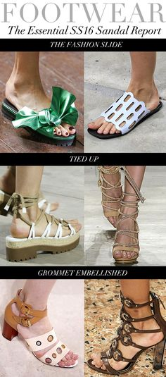 FOOTWEAR SS16 Sandal Report Source: Trend Council