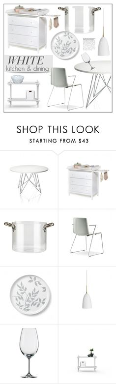"""""""White Kitchen & Dining"""" by lovethesign-eu ❤ liked on Polyvore featuring interior, interiors, interior design, home, home decor, interior decorating, Magis, knIndustrie, Pordamsa and Koziol"""