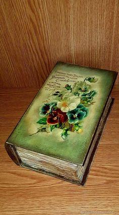 Шкатулка книга. Декупаж – купить или заказать в интернет-магазине на Ярмарке Мастеров | Большая шкатулка-книга, выполнена в технике…