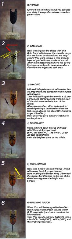 How to Paint True Metallic Metal Gold