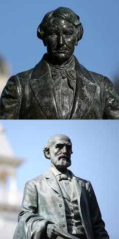The history of why and how Baylor's two most prominent statues -- Judge R.E.B. Baylor and Rufus C. Burleson -- earned their place on campus.