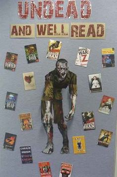 Library Displays / Undead and Well Read etc