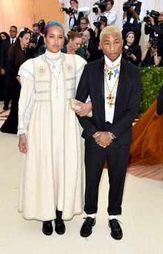 Helen Lasichanh and Pharrell Williams in Chanel
