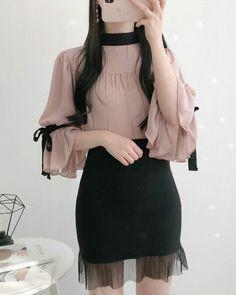 Vijo blouse korean fashion fashion, ulzzang fashion y fashio K Fashion, Ulzzang Fashion, Korea Fashion, Kawaii Fashion, Cute Fashion, Asian Fashion, Fashion Models, Fashion Dresses, Fashion Design