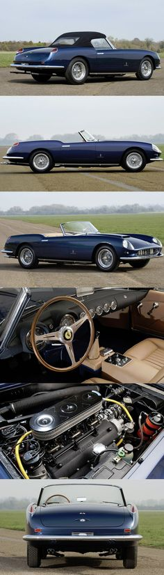 1959 Ferrari 250 GT Cabriolet / Pininfarina / Italy / blue / - Cars and motor Retro Cars, Vintage Cars, Antique Cars, Classy Cars, Sexy Cars, Peugeot 406, Automobile, Ferrari Car, Ferrari 2017