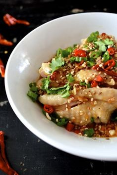 "We weren't being witty or anything with the word ""drool-worthy"" in the title here. In fact, the Chinese name of this chicken dish is ""kou shui ji,"" which literally translates to ""saliva chicken."""