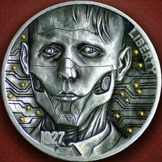 Hobo Nickel hand carved. Artist John Smith Hobo Nickel, John Smith, Hand Carved, Carving, Artist, Fictional Characters, Ebay, Wood Carvings, Artists