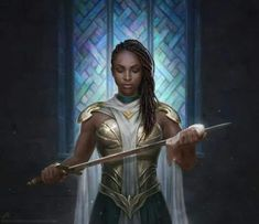 Leesha Hannigan on - Fantasy Book Fantasy Warrior, Fantasy Rpg, Medieval Fantasy, Woman Warrior, Fantasy Queen, Black Characters, Fantasy Characters, Female Characters, Black Girl Art