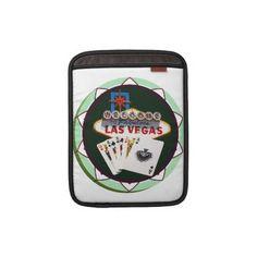 Las Vegas Sign  Two Kings Poker Chip Sleeves For Macbook Air by LasVegasIcons - Shipping to Avon, Ohio - #lasVegas #poker #pokerchip #gamble