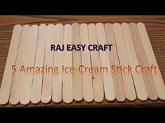 4 DIY Popsicle Stick Craft Compilation / Craft Ideas / Home Decor Popsicle Stick Boat, Popsicle Stick Bridges, Popsicle Stick Crafts For Kids, Craft Stick Crafts, Easy Crafts, Craft Ideas, Diy Gifts For Kids, Diy Projects For Kids, Fun Crafts For Kids